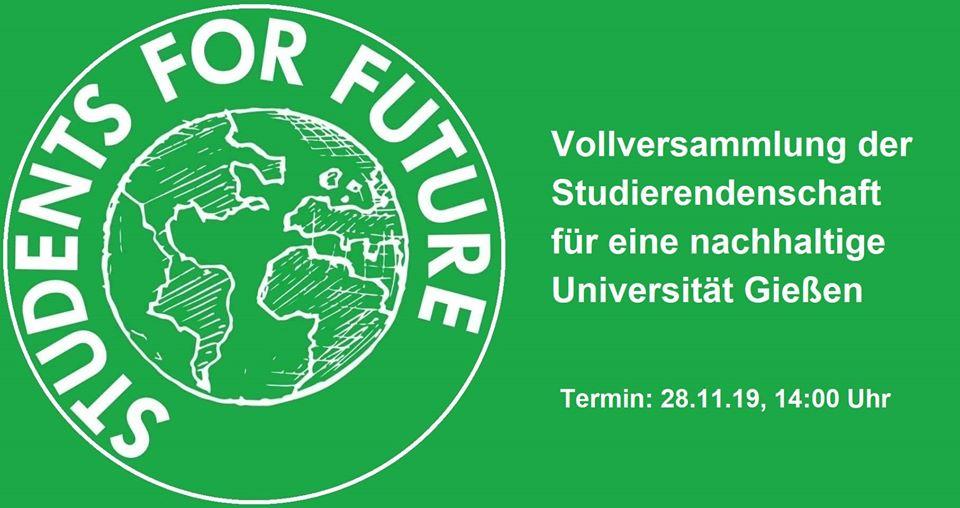 Vollversammlung der Studierenden für eine nachhaltige Uni Gießen