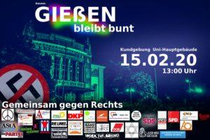 Kundgebung: Gießen Bleibt Bunt! Gemeinsam Gegen Rechts! @ Treffpunkt: UHG - Unihauptgebäude