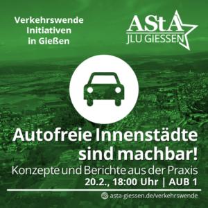 Autofreie Innenstädte sind machbar! Konzepte und Berichte aus der Praxis @ AUB - Alte Universitätsbibliothek