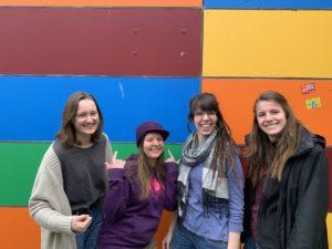 Referentinnen für Öffentlichkeitsarbeit: Emely Green, Andrea Barany, Ellen Beck und Sophie Müller