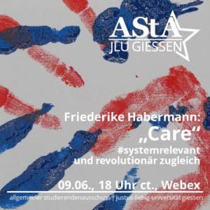 Online-Vortrag: #Systemrelevant und revolutionär zugleich: Care