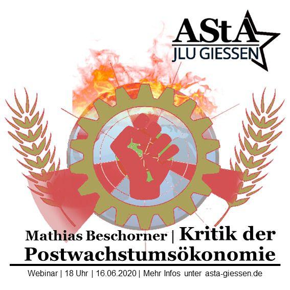 Share-Pic: Kritik der Postwachstumsökonomie. Webinar mit Mathias Beschorner. 16.06.2020 um 18 Uhr